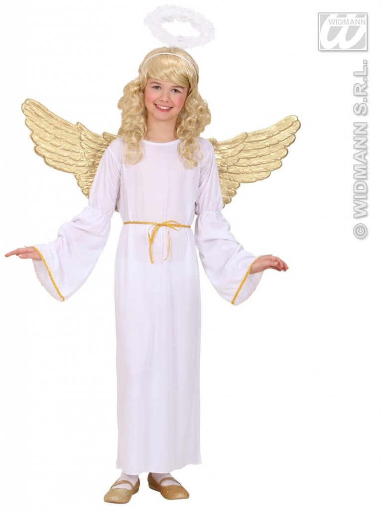 Angel Wings Gold Plastic Accessory For Christmas Panto Nativity Fancy Dress