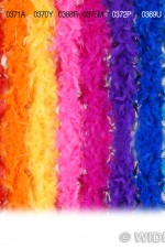 0371A Orange Feather Boa