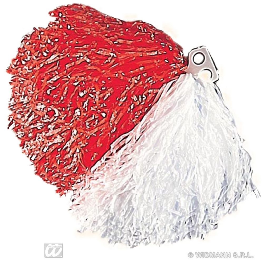 1089F Red/White Pom Pom