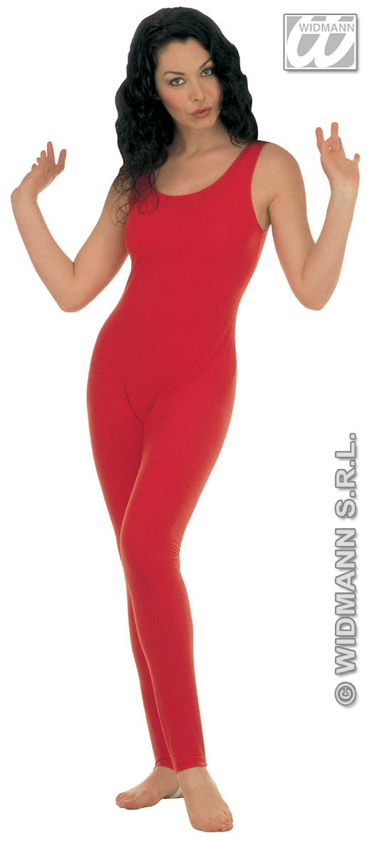 1132C Red Sleeveless Bodysuit