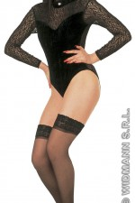 1154G Velvet/Lace High Neck Leotard