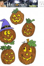 1166H Pumpkin window stickers