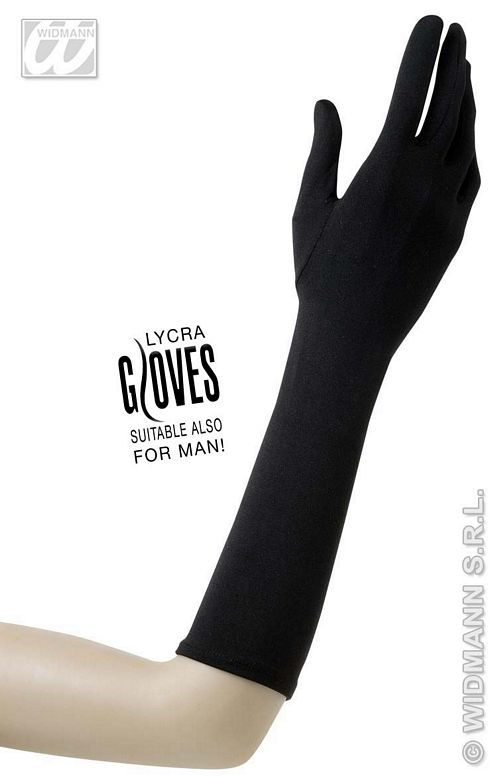1440N Long Black Gloves