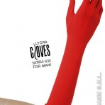1442R Long Red Gloves