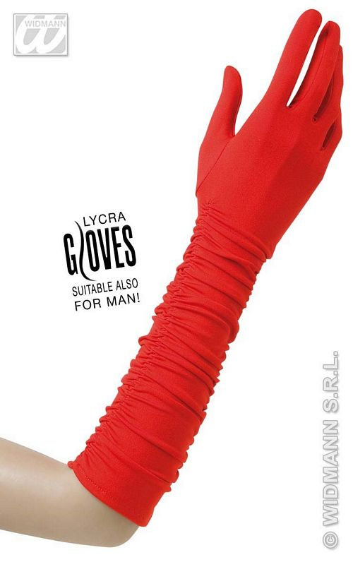 1445S Long Red Gloves