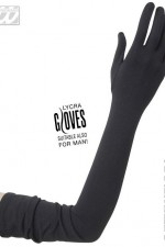 1449C Extra Long Black Gloves