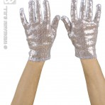 1455A Silver Sequin Gloves