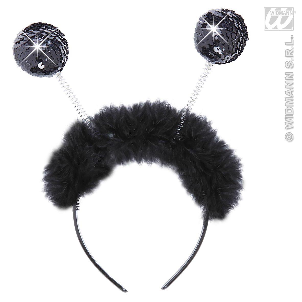 1942G Black Sequin Headboppers