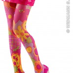 2026H 60s Hippie Flower Tights