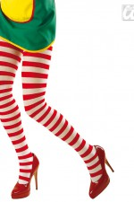 2027P Red & White Striped Tights