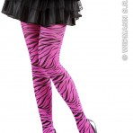 2031Z Pink Zebra Tights