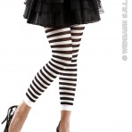 2044T Black & White Striped Leggings