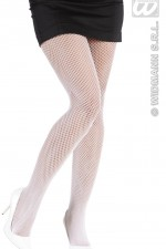 2062B/4752B White Fishnet Tights