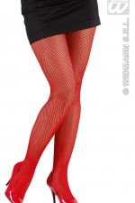 2063R/4753C Red Fishnet Tights