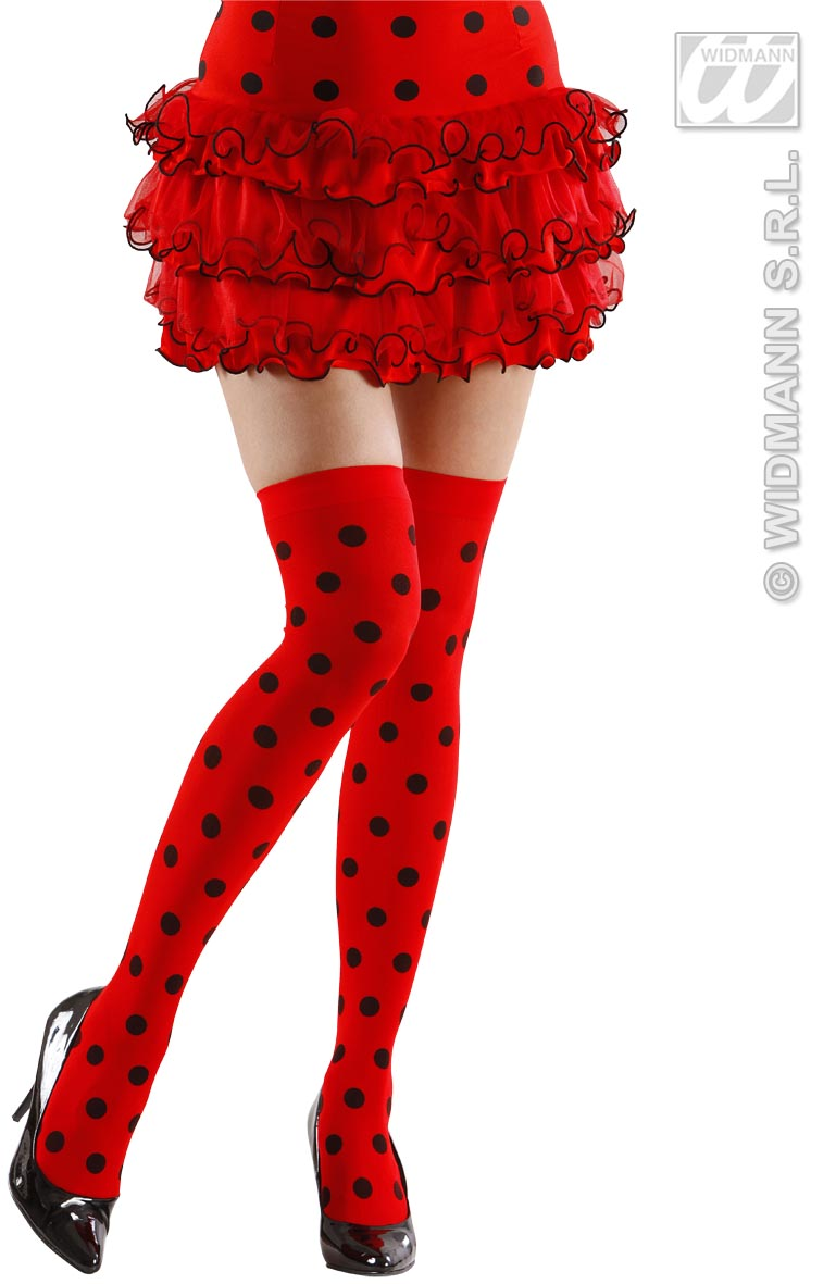 2073L Ladybird Over Knee Socks