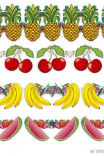 2215F Fruit paper garland