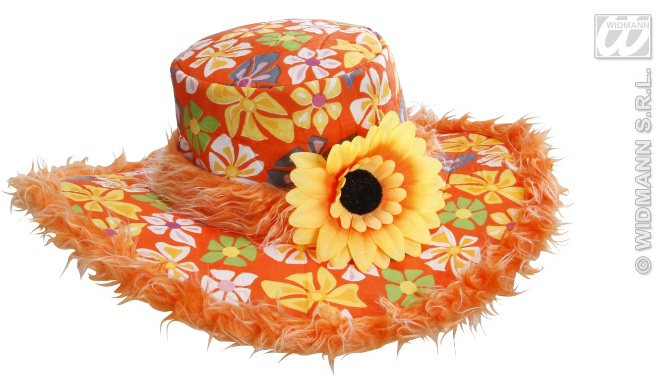 2596A Hippy Flower Hat