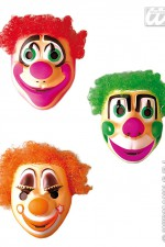 2664K Clown Mask With Hair