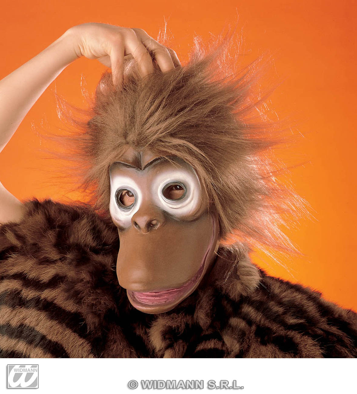 2669F Monkey Mask With Hair