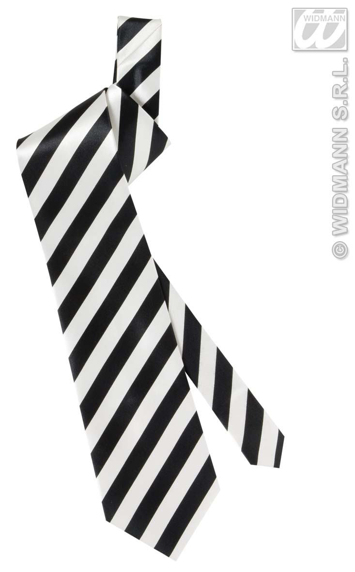 2995P Black/White Stripes Necktie