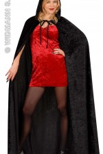 3266N Velvet hooded cloak