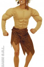 32713 Jungle man with muscle chest