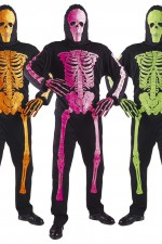 33446 3D Neon skeleton jumpsuit