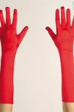 3446K Red Satin Gloves