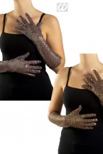 3448S Long Sequin Gloves