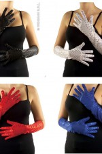 3449E Long Sequin Gloves