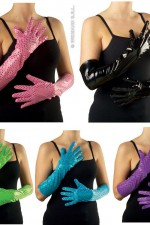 3450C Long Sequin Gloves