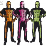 44012 3D Neon Skeleton Jumpsuit