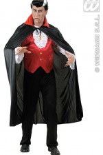 4494S Black Cape With Red Collar