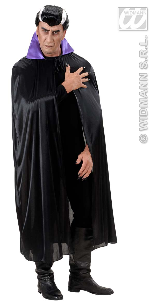 4495P Black Cape With Purple Collar