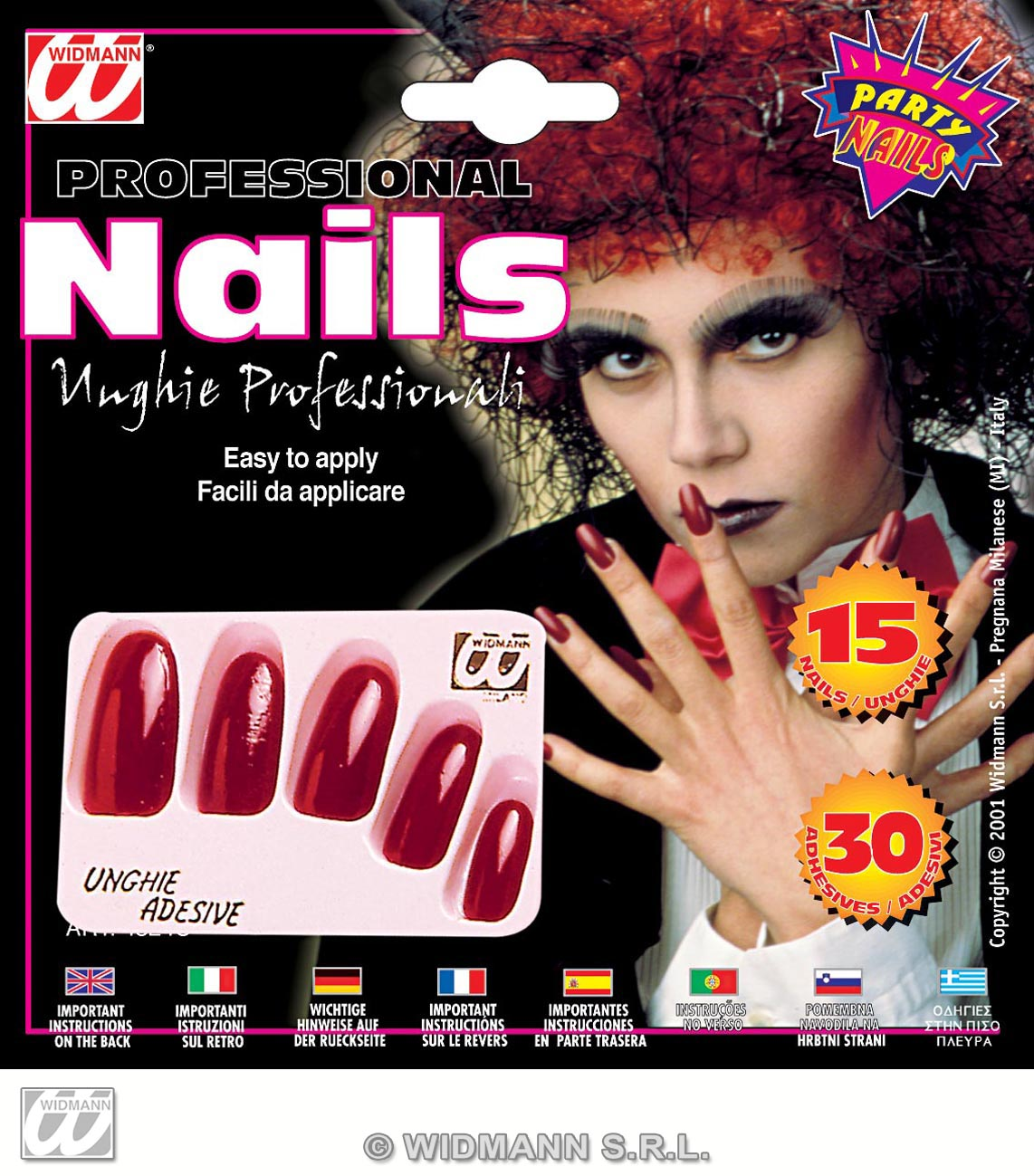 4524U red extra long nails