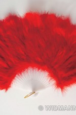 4716R Red Feather Fan