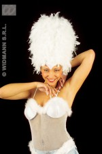 4723W Sequin feather headress