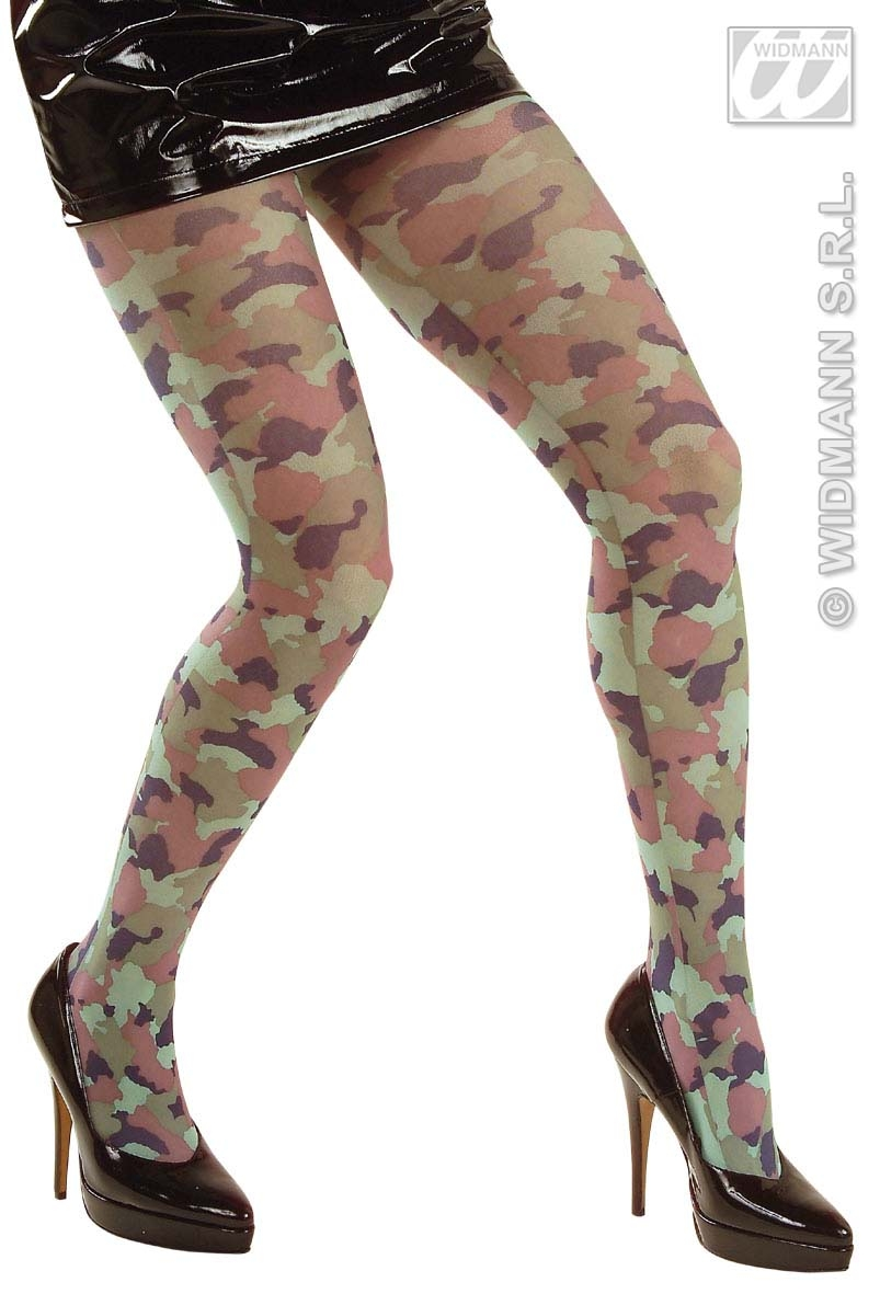 4789C Camouflage Tights