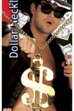 5009D Gold Dollar Necklace