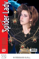 5032R Spider lady necklace