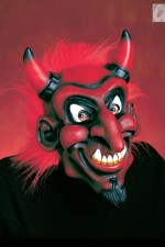 5356D Devil Mask With Hair