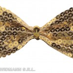 5376G Gold Sequin Bow Tie