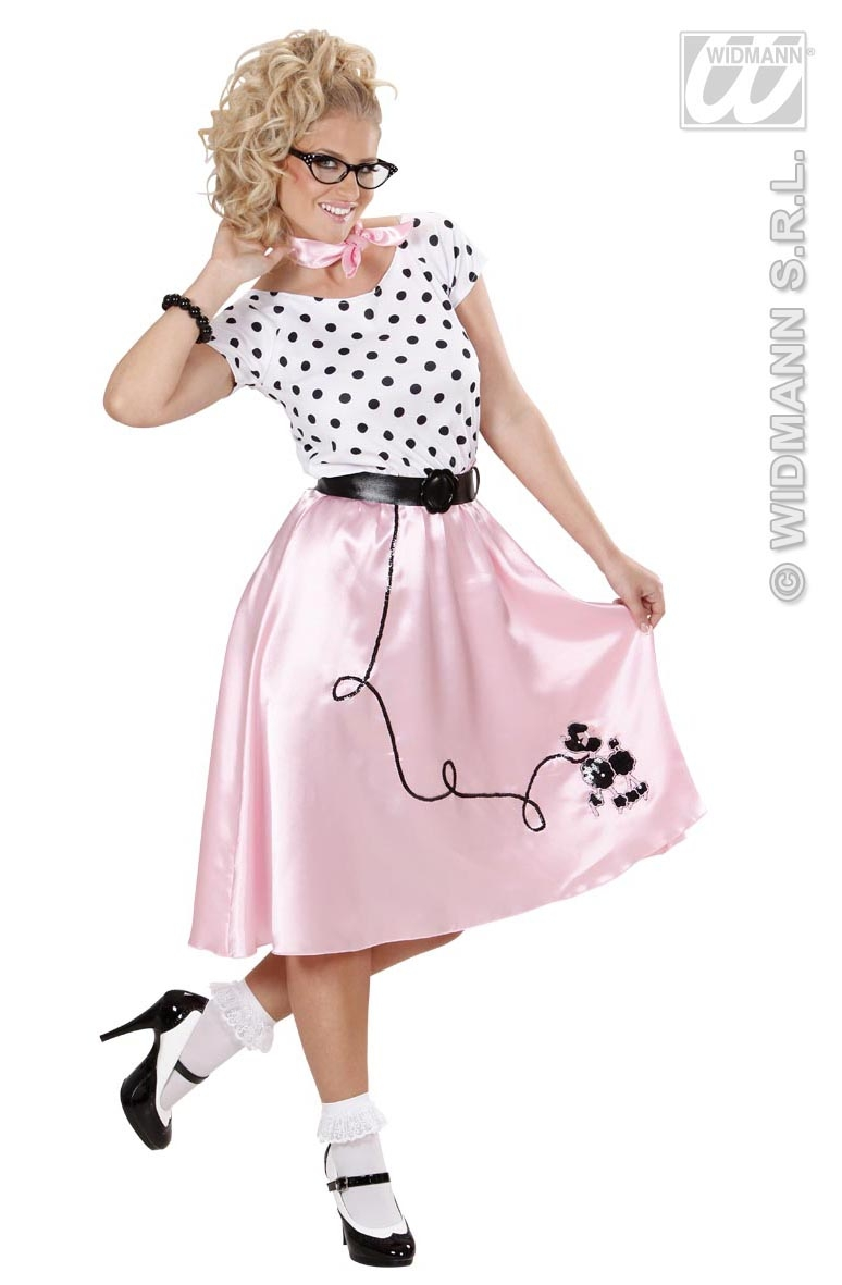 58441 1950s Poodle dress