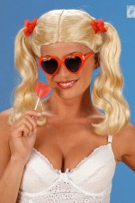 5967H Long Blonde Pigtails Wig
