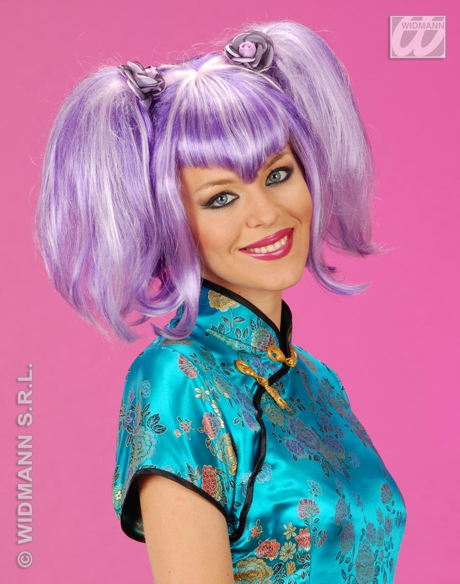 5968I Purple Pigtails Wig