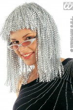 6075S Silver Crinkle Wig