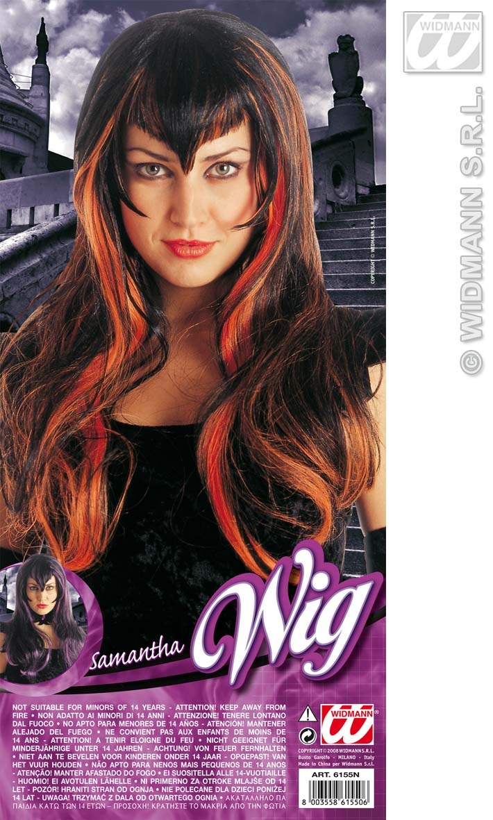 6155N Long Pointed Fringe Wig