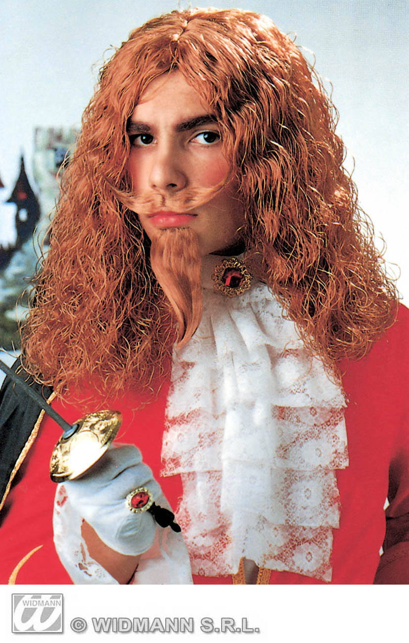 6296M Musketeer Wig With Moustache