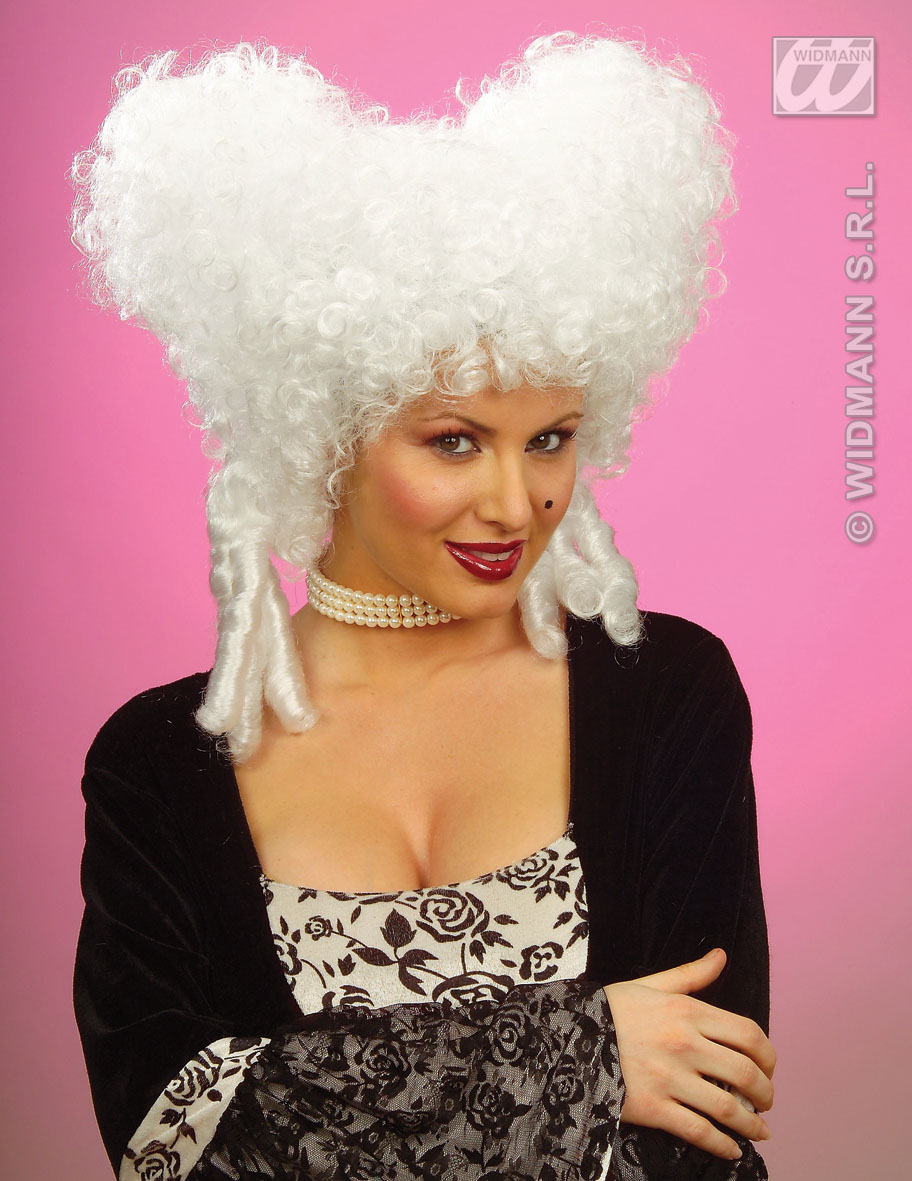 6323W Baroque White Wig