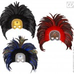 6439H Feather Mask